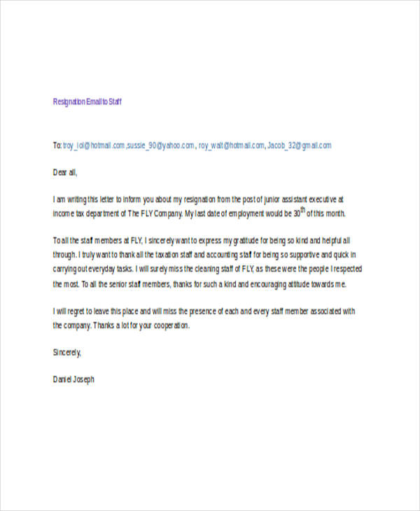 17+ Resignation Email Examples \ Samples - quick tips writing resignation letters