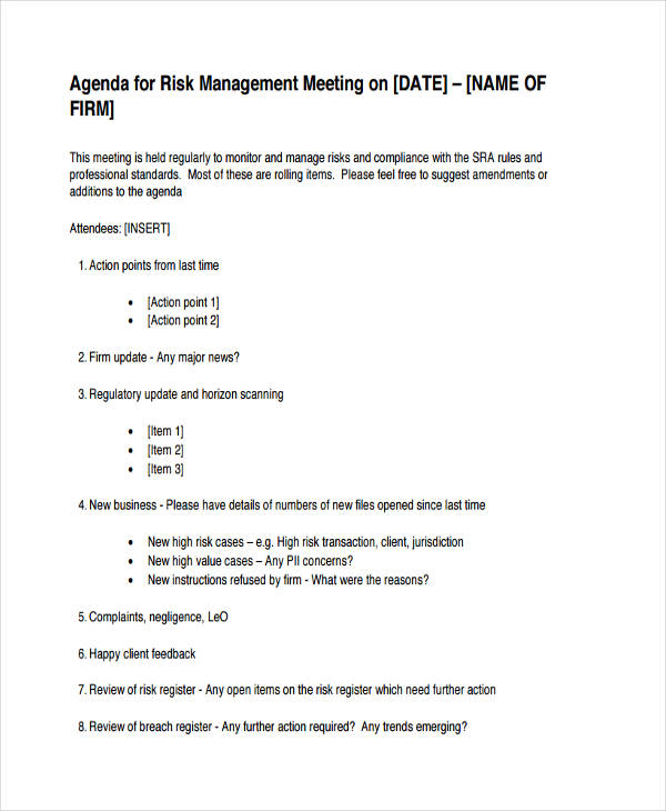 21+ Management Agenda Examples  Samples - collaboration meeting agenda