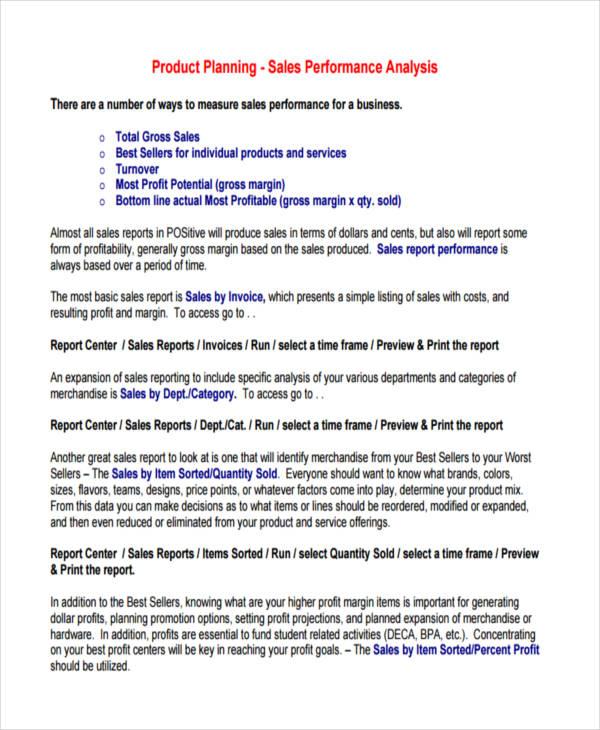 8+ Sales Analysis Examples  Samples - sales analysis