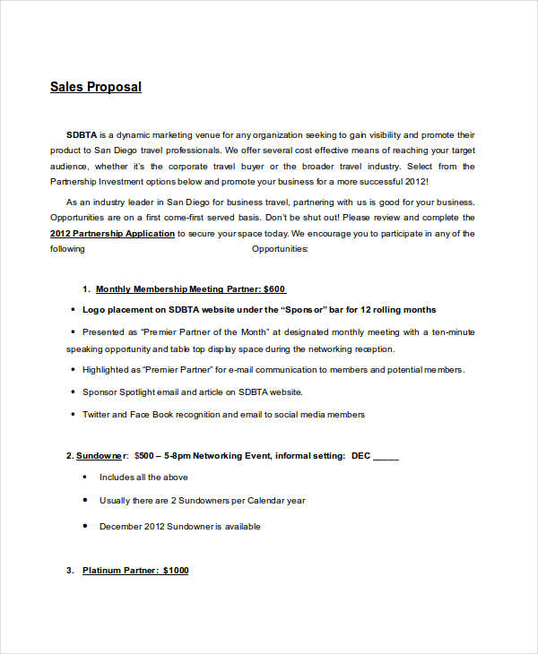 9+ Short Proposal Examples  Samples - PDF, DOC - proposal samples