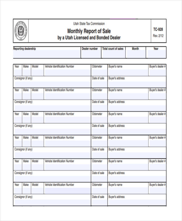 14+ Monthly Report Examples  Samples - PDF, Word - monthly report format