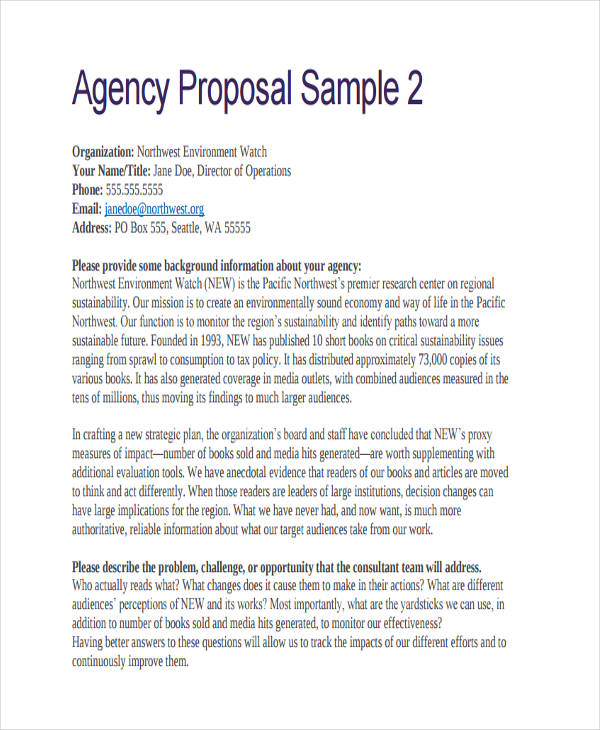 65+ Examples of Free Proposals - book proposal sample