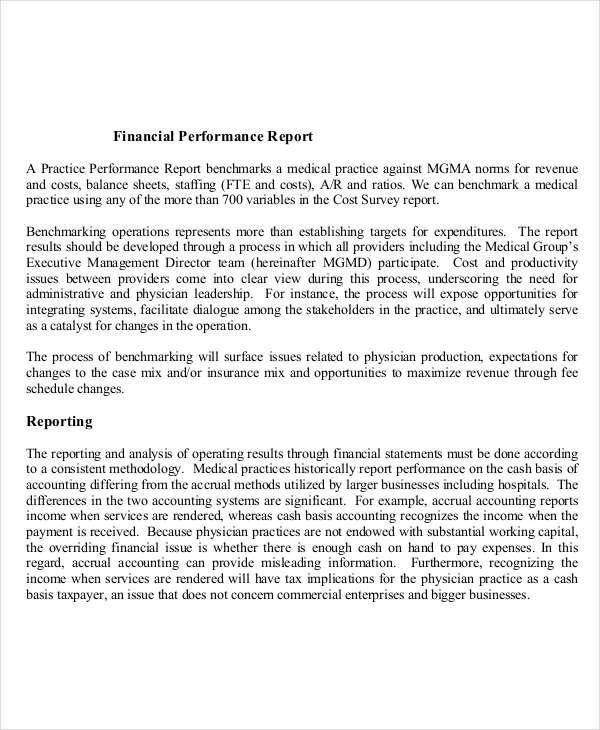 8+ Performance Report Examples - PDF, DOC
