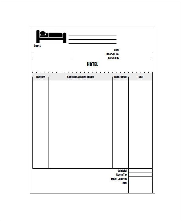 blank invoice to print