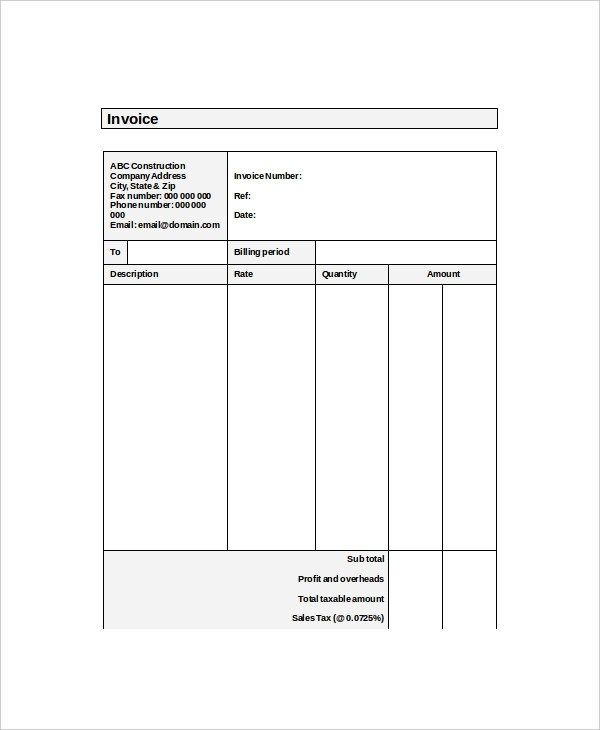 4+ Self-Employed Invoice Examples  Samples