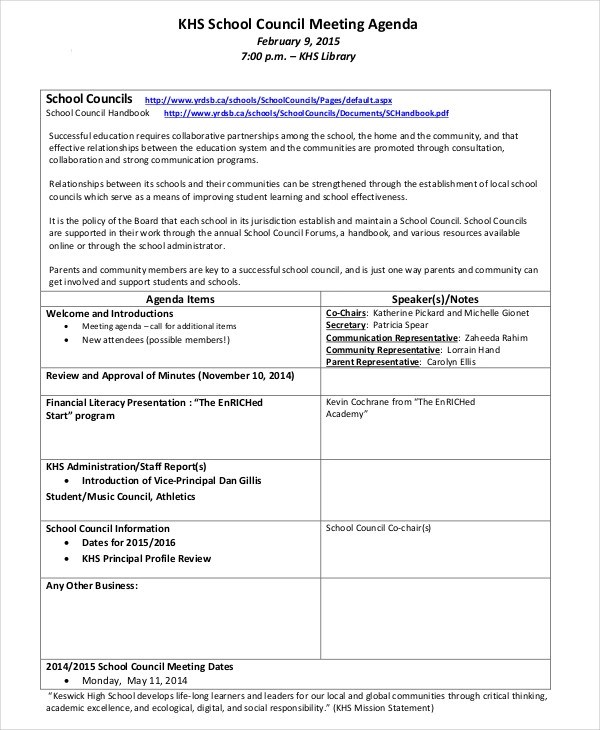 meeting agenda outline  46 effective meeting agenda templates  u1405 template lab  meeting agenda