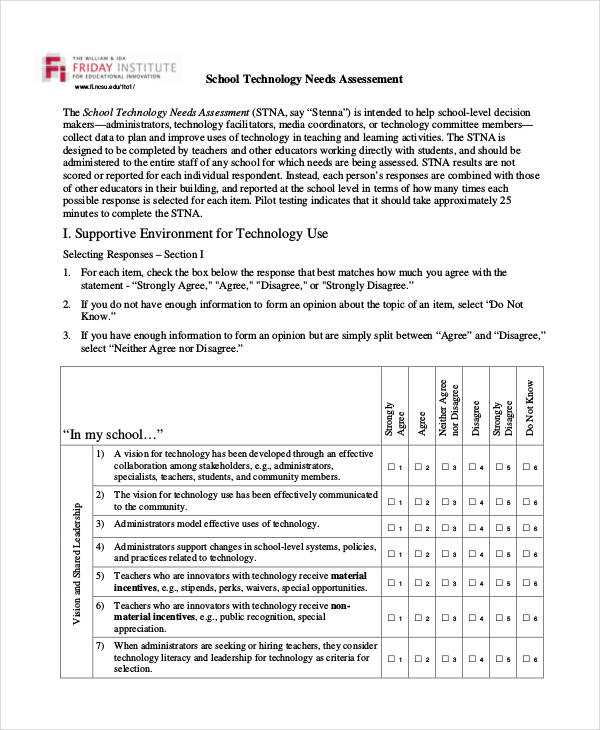 36+ Needs Assessments Examples  Samples