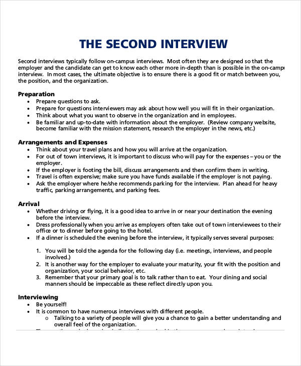 questions to ask in a second interview