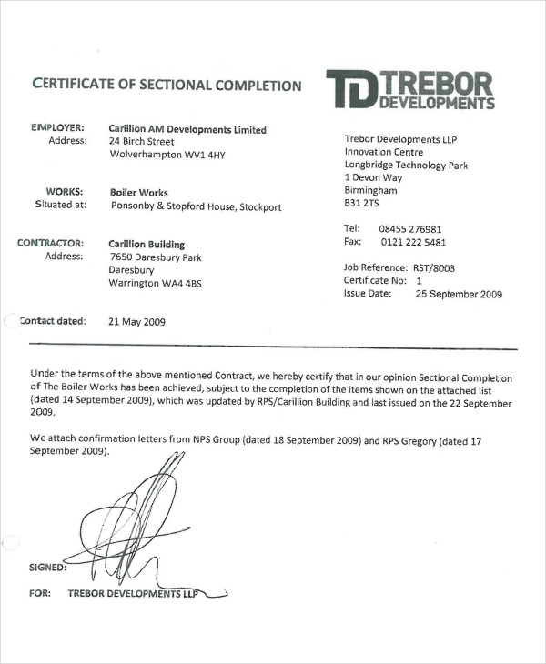 House Completion Certificate Sample Images Certificate Design House Completion  Certificate Sample Gallery Certificate Design House Completion  Building Completion Certificate Sample