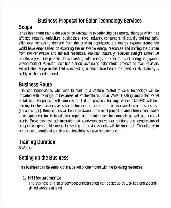 11+ Service Proposal Examples, Samples - proposal for services example