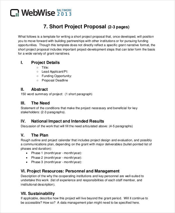 proposal format - Goalgoodwinmetals - sample proposal template for project