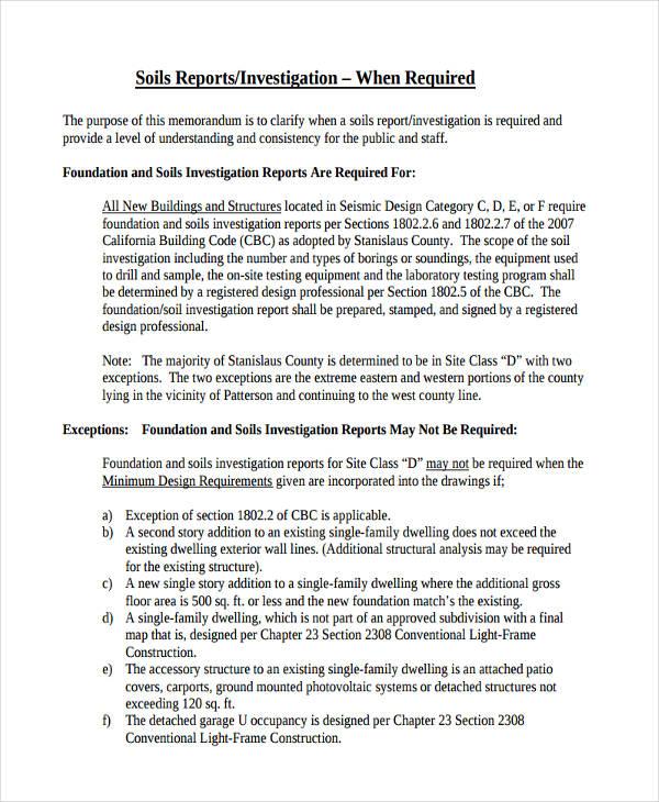 investigative report example