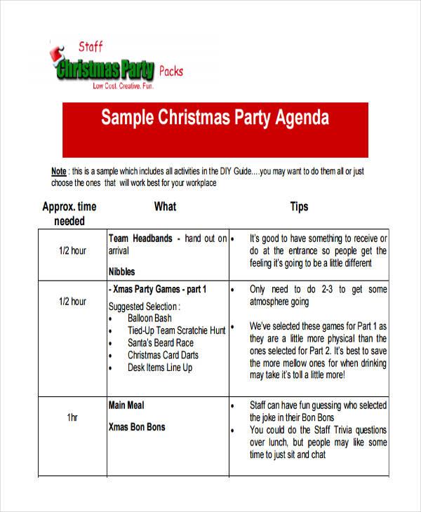 party agenda sample - Jolivibramusic
