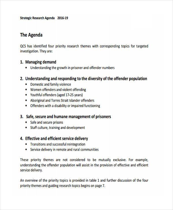 36+ Agenda Examples in PDF
