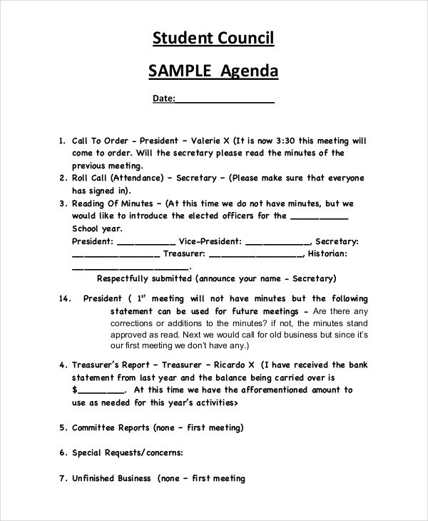 sample student agenda \u2013 bitcoinrush