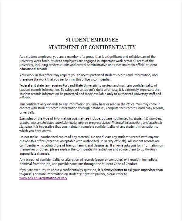 17+ Employee Statements Examples  Samples