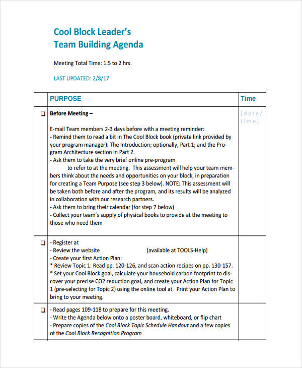 10+ Team Agenda Examples, Samples Examples