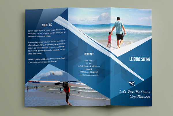 3 fold brochure template psd free download