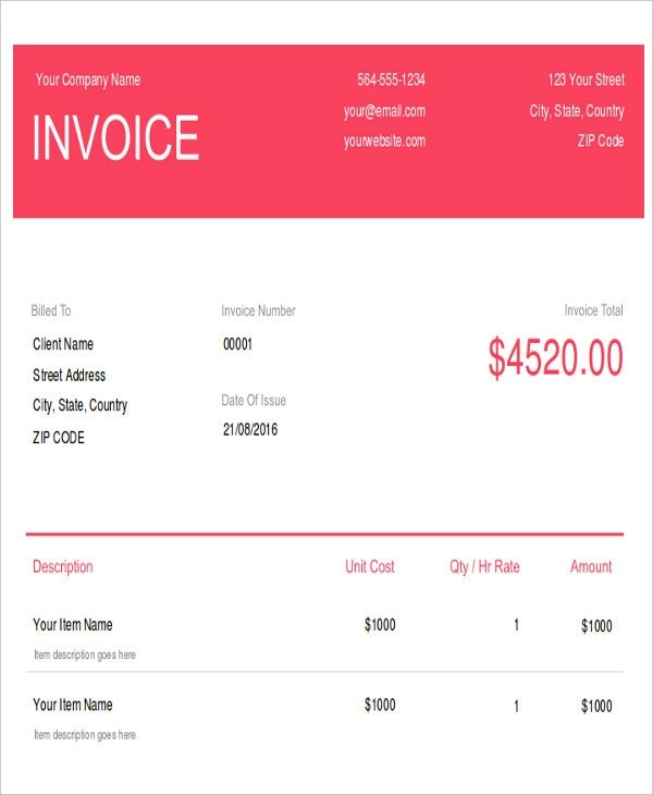 8+ Photography Invoice Examples  Samples