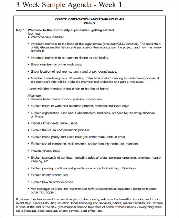 Sample Weekly Agenda Mc Edu A Printable Weekly Agenda Template Is