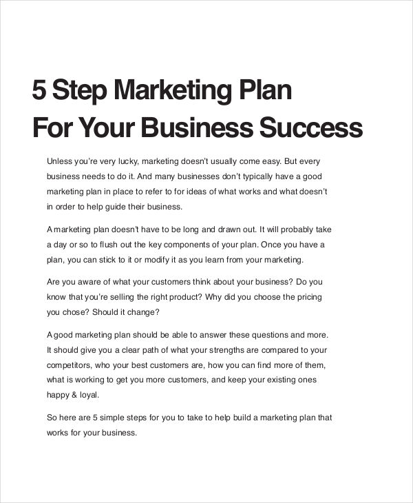24+ Examples of Free Business Plans - retail business plan essential parts