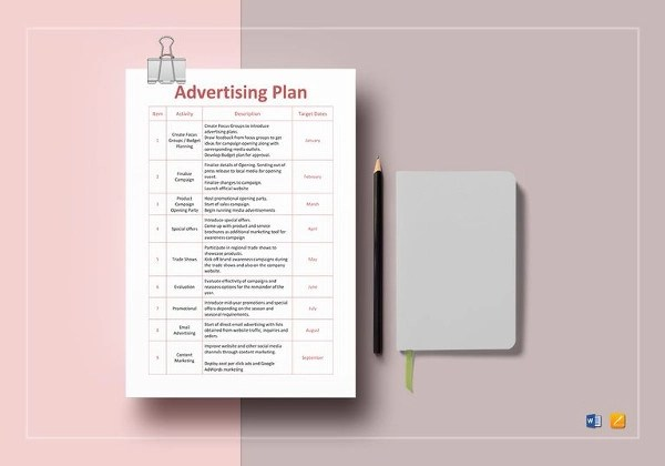 7+ Advertising Plan Examples  Samples - PDF, Word, Pages Examples