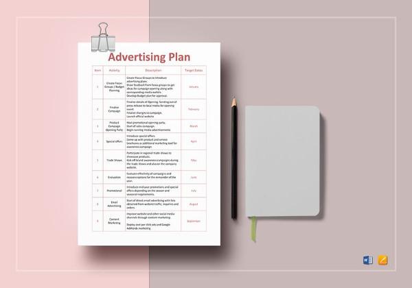 10+ Advertising Plan Examples, Samples