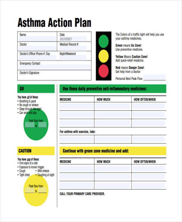 34+ Examples of Plans - sample asthma action plan
