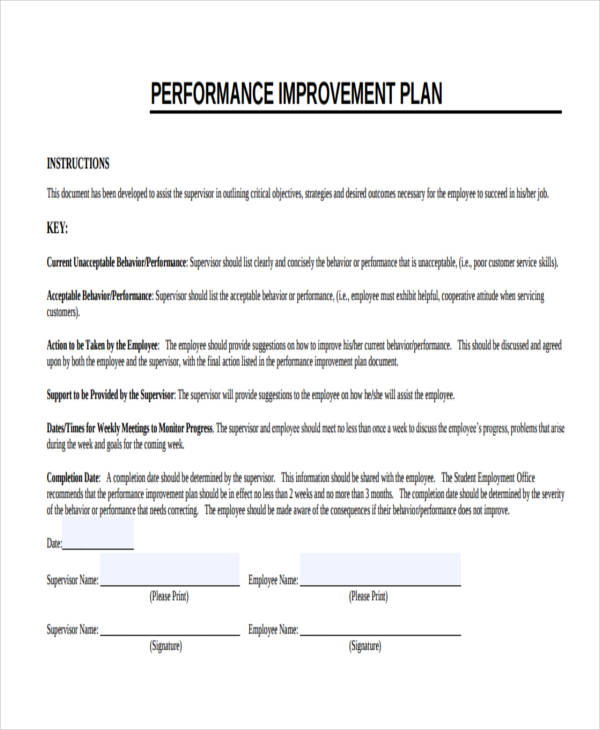Nursing Performance Improvement Plan