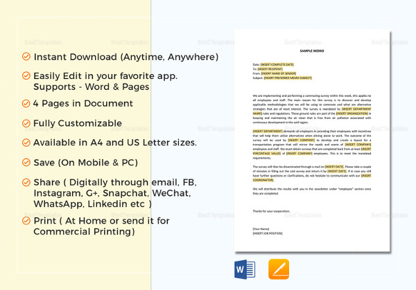 17+ Business Memo Examples  Samples - PDF, DOC