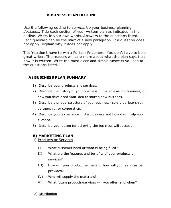 24+ Business Plan Examples  Samples - PDF, Word, Pages
