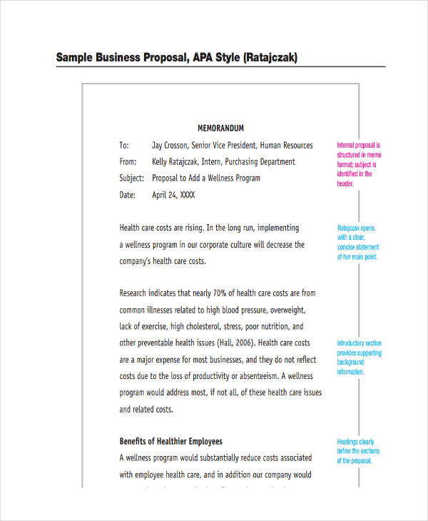11+ Proposal Memo Examples  Samples - PDF, Word, Pages