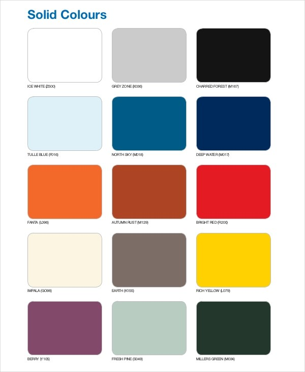 Exelent Pantone Color Chart Template Inspiration - Best Resume