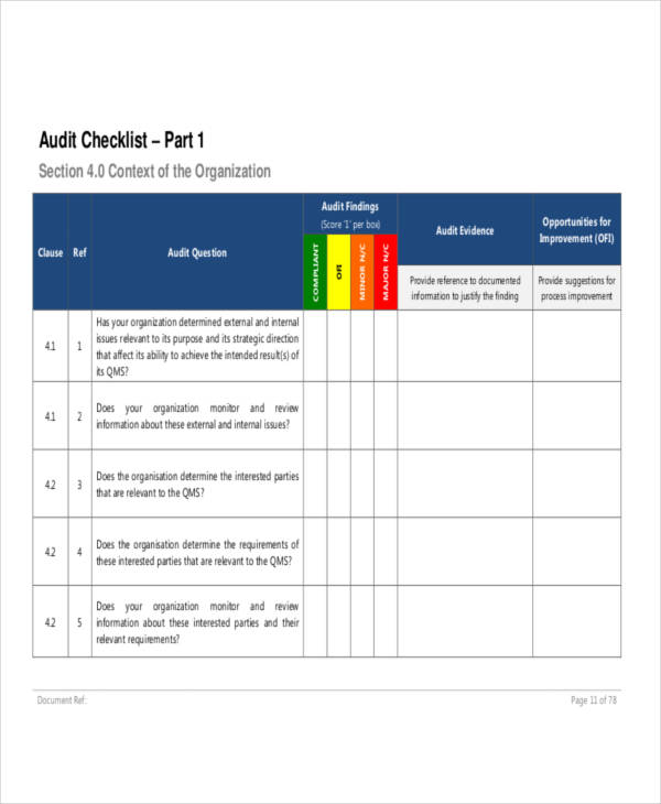 15+ Audit Checklist Examples  Samples - PDF, Word, Pages Examples