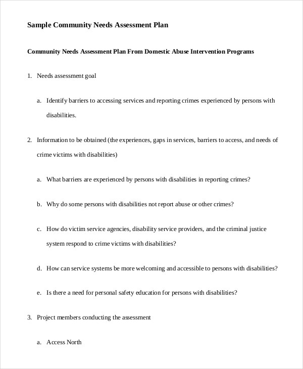7+ Assessment Plan Examples, Samples - sample assessment plan