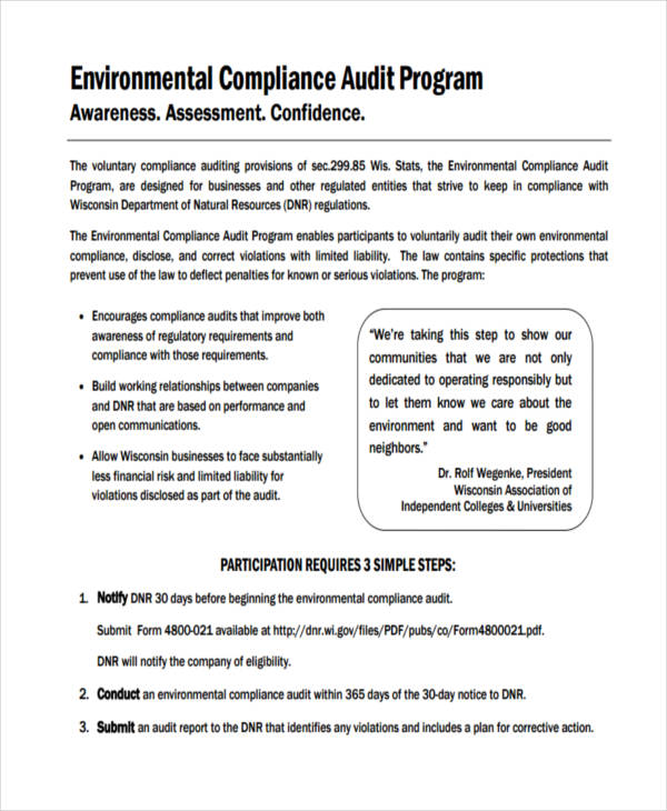 21+ Program Examples - PDF - sample audit program