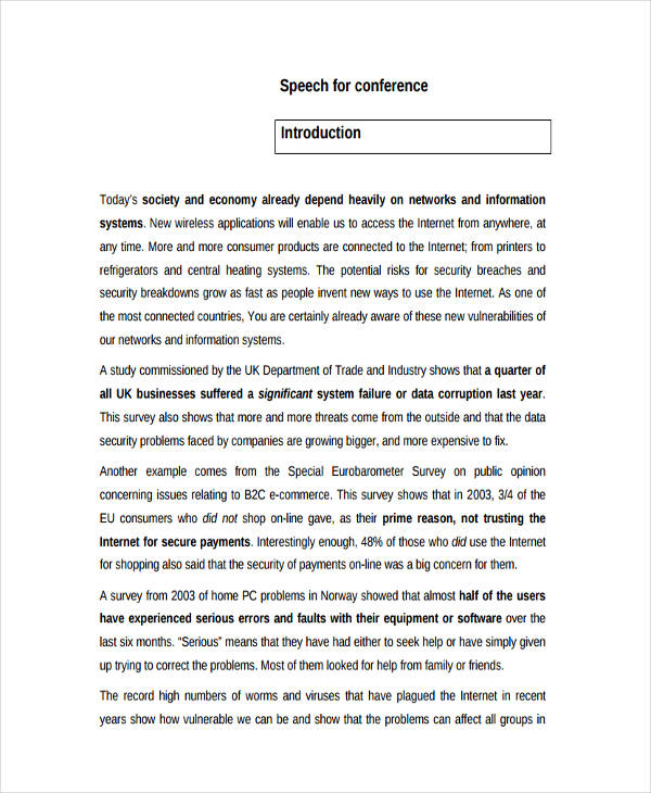 23+ Speech Examples - PDF - Introduction Speech Example