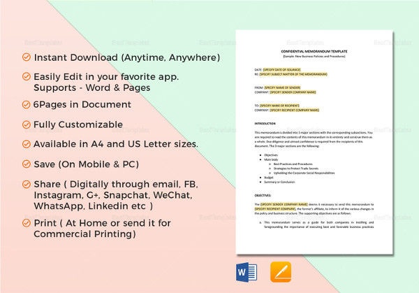 16+ Employee Memo Examples  Samples - PDF, Word