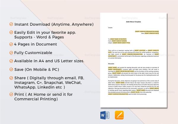... 12+ Financial Memo Examples, Samples   Debit Memo Sample ...  Debit Memo Sample