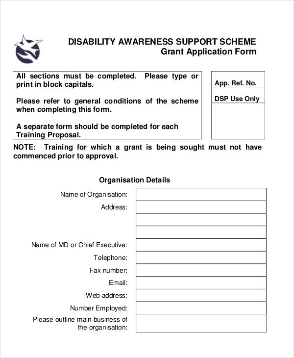 6+ Disability Application Examples, Samples - disability application form