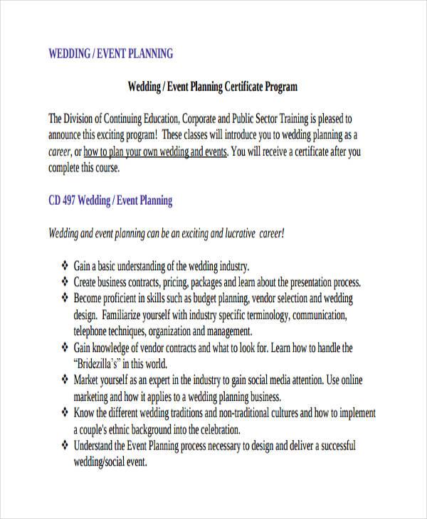 10+ Wedding Plan Examples, Samples - wedding plan