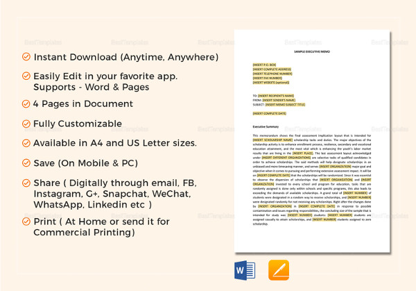 8+ Executive Memo Examples - Word, Google Docs, Apple Pages Examples