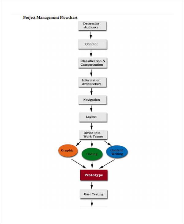 7+ Project Flow Charts Examples \ Samples - sample flow chart