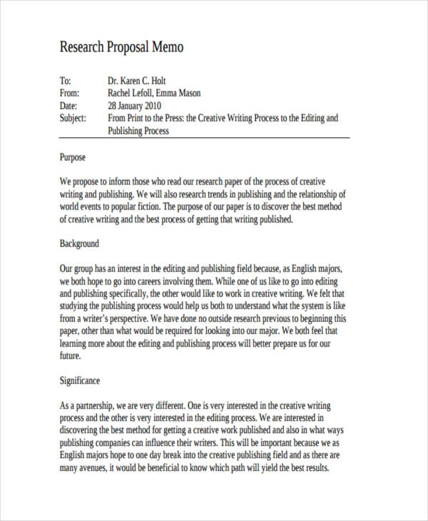 7+ Formal Memo Examples, Samples - formal proposal example