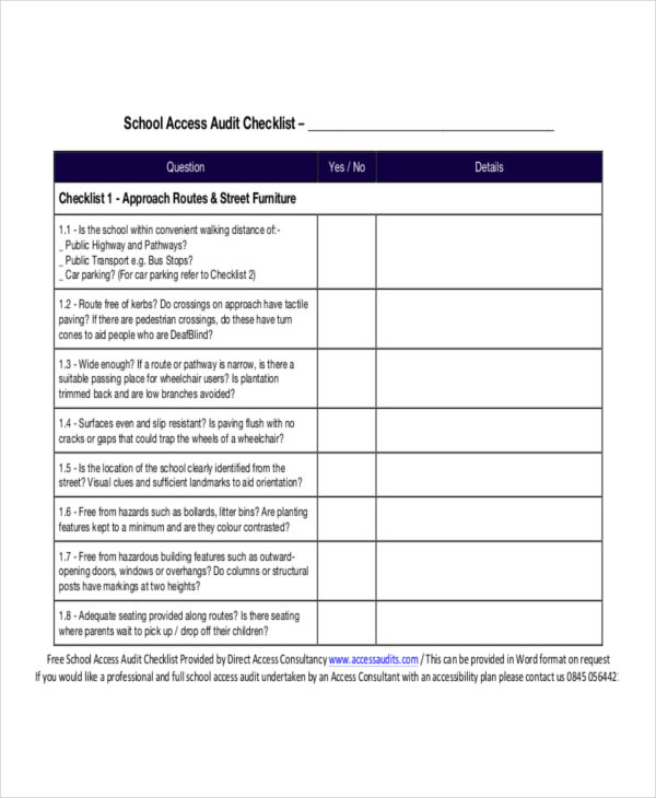8+ Examples of Audit Checklists - audit templates free