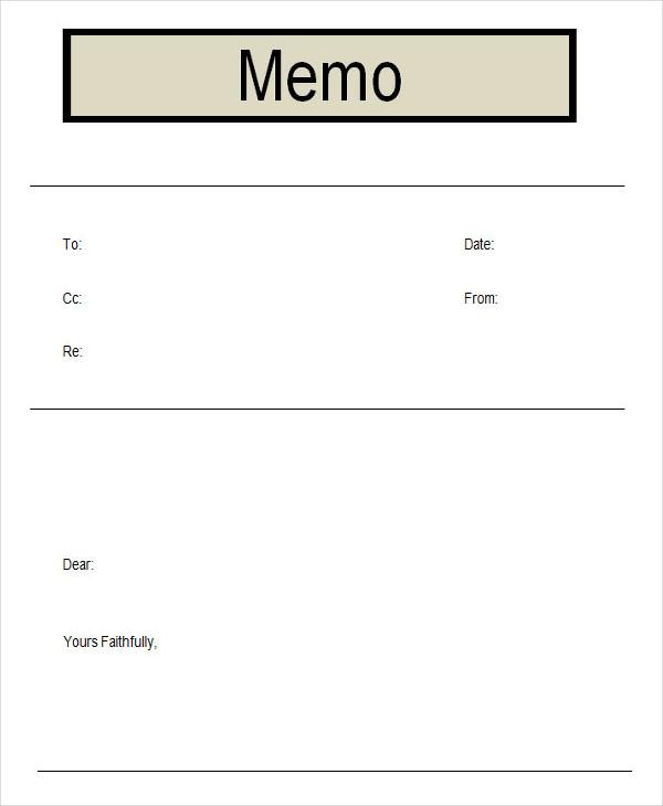 business memo form