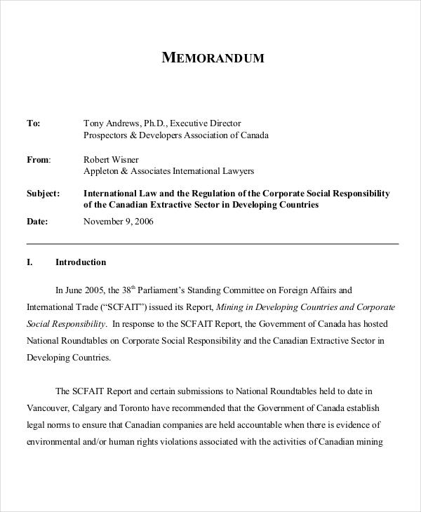 11+ Legal Memo Examples, Samples