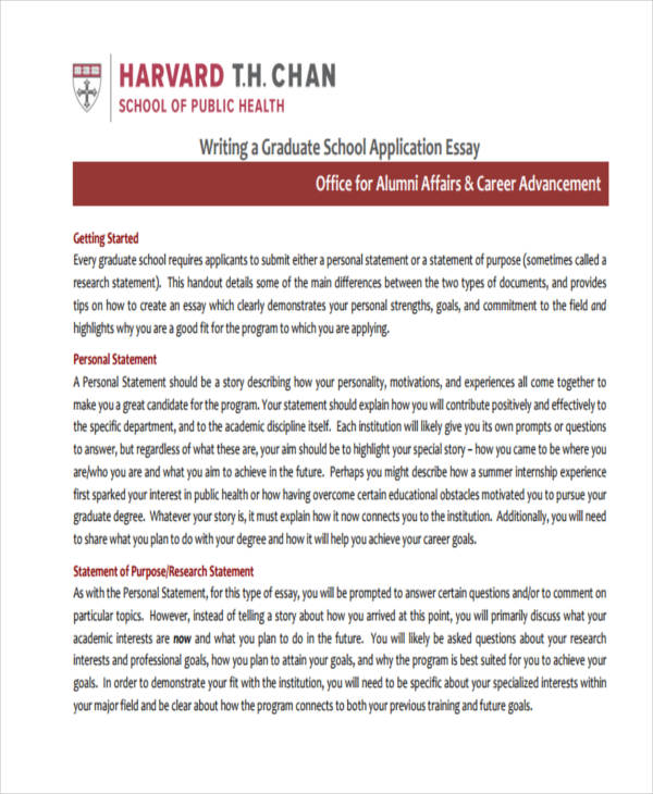 Personal Statement For Graduate School How To Write A Personal - statement of purpose graduate school sample