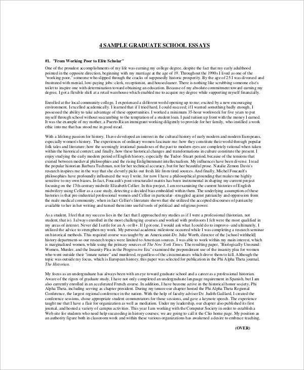 9+ High School Essay Examples  Samples - PDF Examples