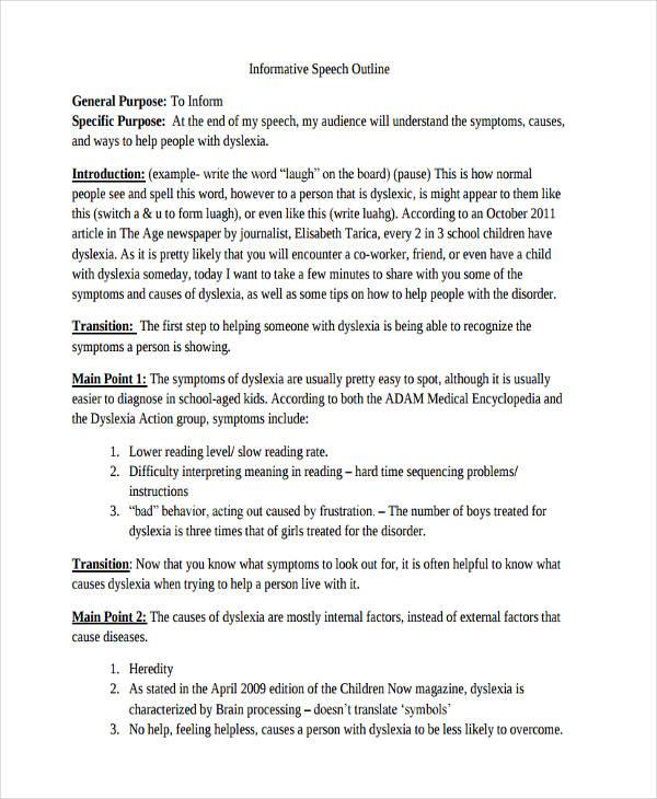 10+ Informative Speech Examples  Samples - PDF, DOC - informative speech